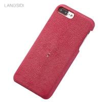 LANGSIDI Custom Made For Iphone Case Pearl Fish Cover Leather Phone Case For Iphone 5 Case