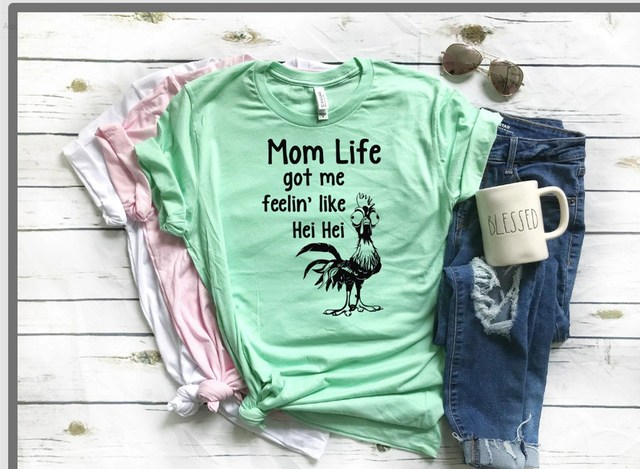 a3feba22 2018 Summer Women Casual O-Neck Short Sleeve Animal T-Shirt Cute Mom Life