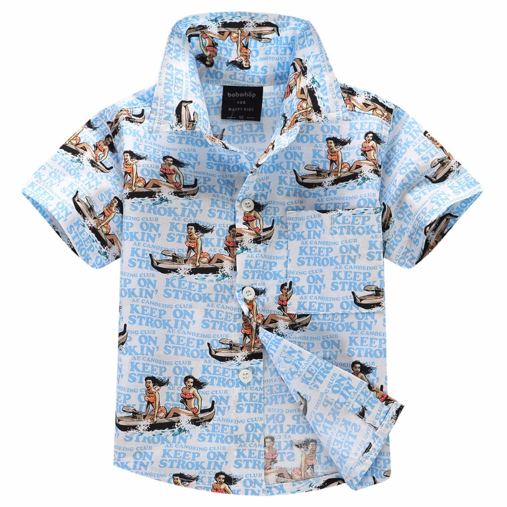 4abd8ec9 cotton 100% floral shirt hawaiian shirt aloha shirt for boy T1701-in ...