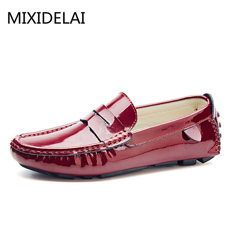 MIXIDELAI men penny loafers patent leather moccasins burgundy size 47 46 45 driving shoes men 12 11 10 9.5 leather loafers white branded men s penny loafes casual men s full grain leather emboss crocodile boat shoes slip on breathable moccasin driving shoes