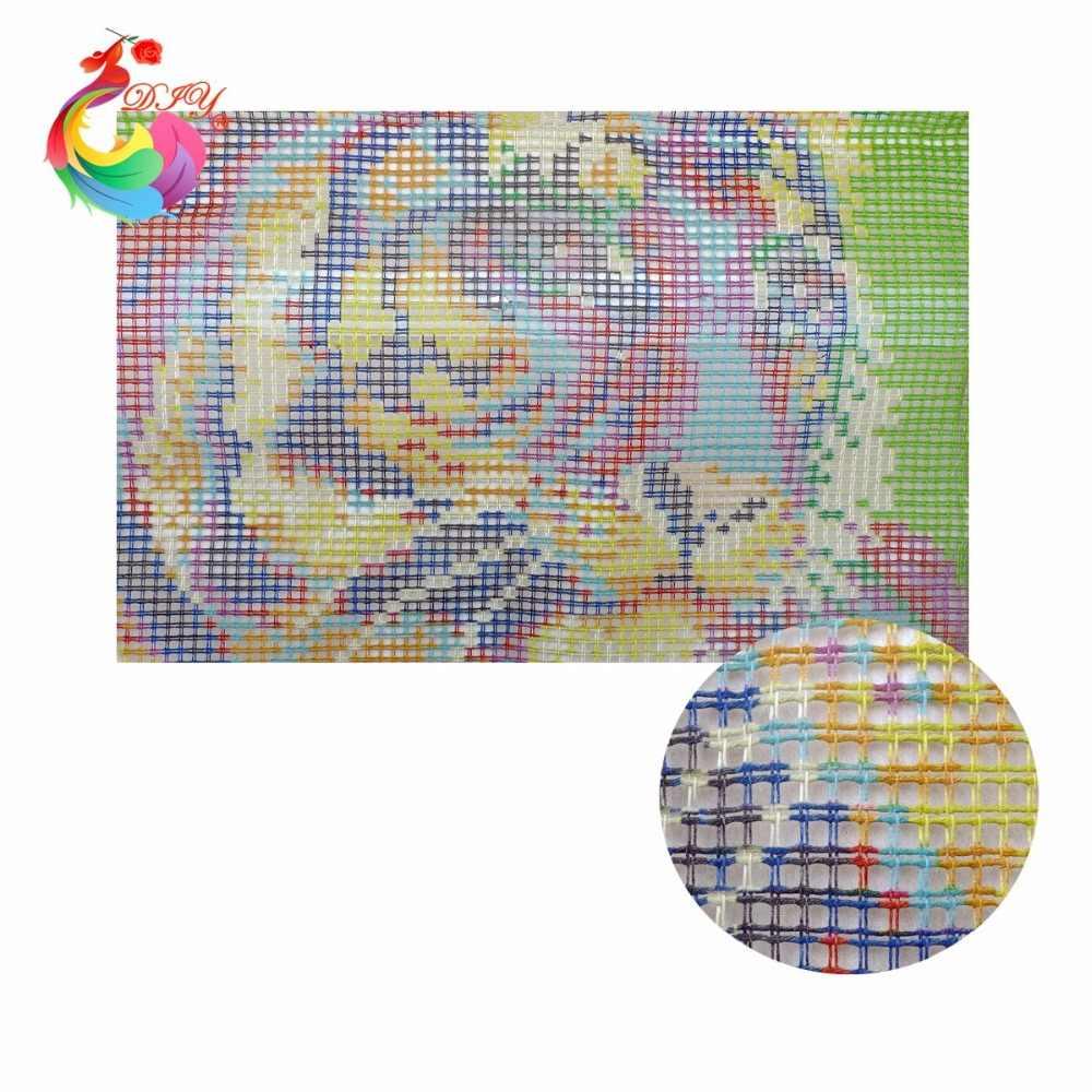 セットのかぎ針フック 52x38 センチメートルラッチフック敷物キットツール丸編針針仕事糸の花のカーペット