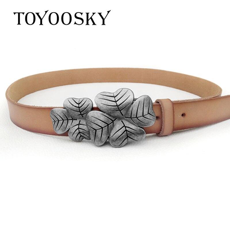 Luxury Second Cowskin Women Belt Genuine Leather  Novelty Belts For Dress Jeans TOYOOSKY