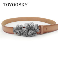 Luxury Second Cowskin Women Belt Genuine Leather  Novelty Belts For Dress Jeans TOYOOSKY