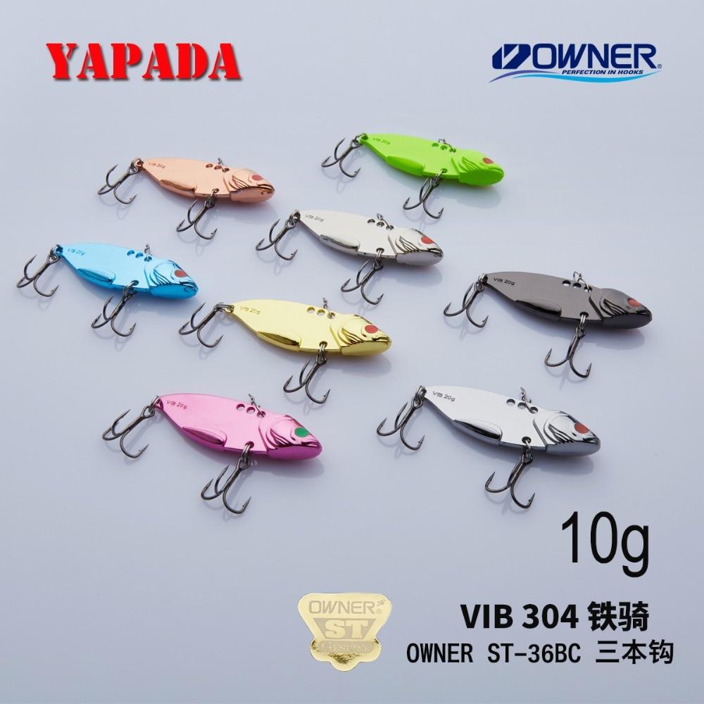 Τάγμα χάλυβα YAPADA VIB 304 10g / 15g ΙΔΙΟΚΤΗΤΗΣ Τροχαίο άγκιστρο 50-57mm Φτερό Πολύχρωμο κράμα ψευδαργύρου Μεταλλικό VIB Απαγορεύεται η αλιεία Bass