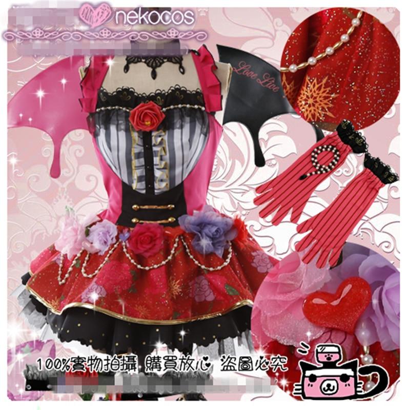 Love Live All Member Honoka Kotori Umi Eli Nozomi Devil Ver Dress Cosplay Costume Christmas Demon