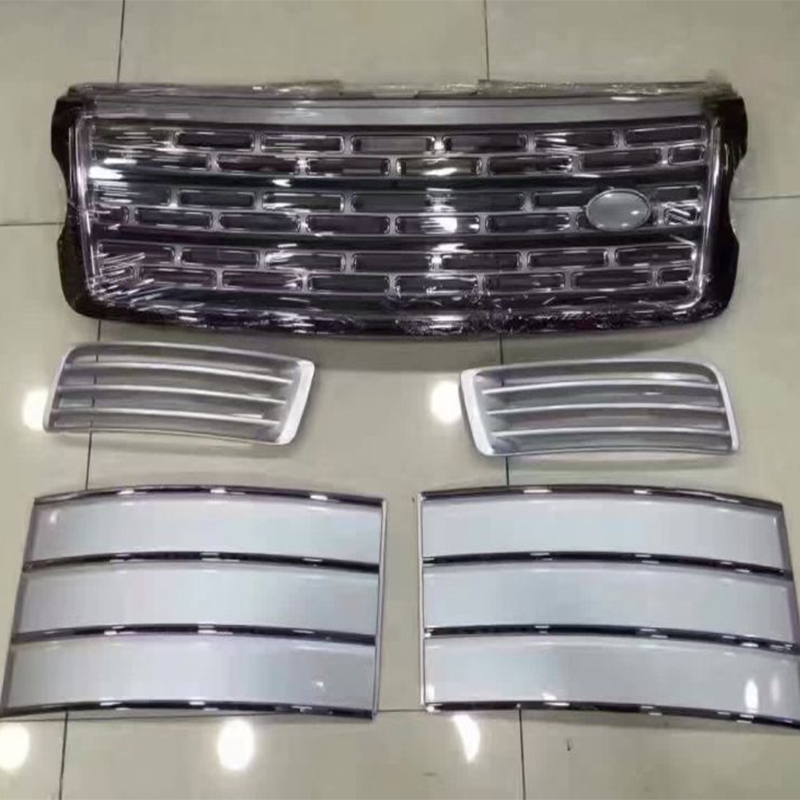 5 PCS/SET Silver Front Bumper Hood Center Grille With Air Vents Kit for Land Rover Range Rover Vogue 2014 2015 2016 коврики в салон land rover range rover evoque 2011