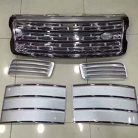 5 PCS/SET Silver Front Bumper Hood Center Grille With Air Vents Kit for Land Rover Range Rover Vogue 2014 2015 2016