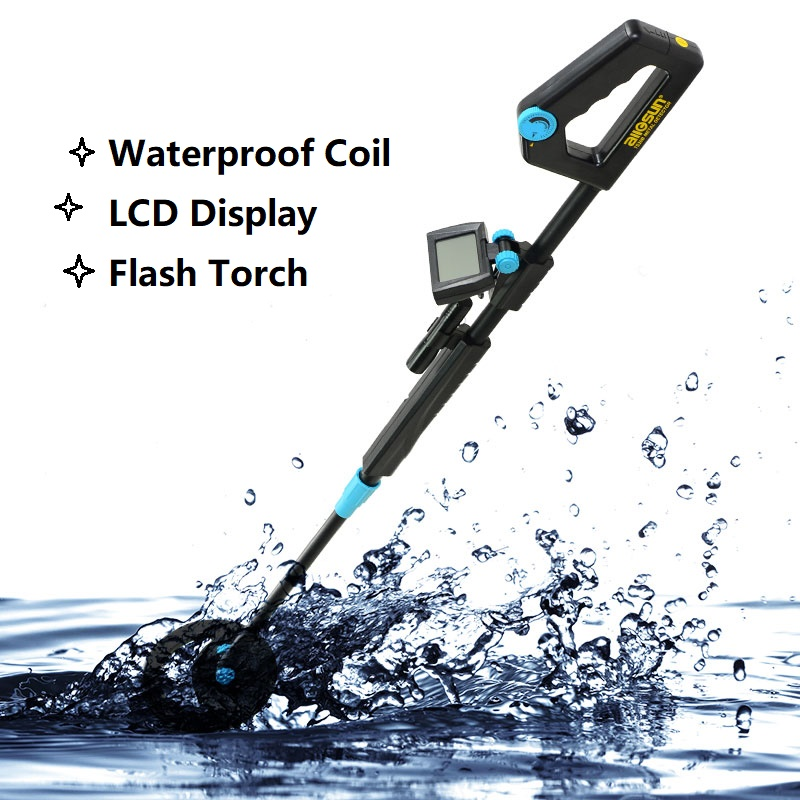 all sun TS20B Waterproof Metal Detector Portable Adjustable Length for Kid Underground Gold Hunter Toy Children
