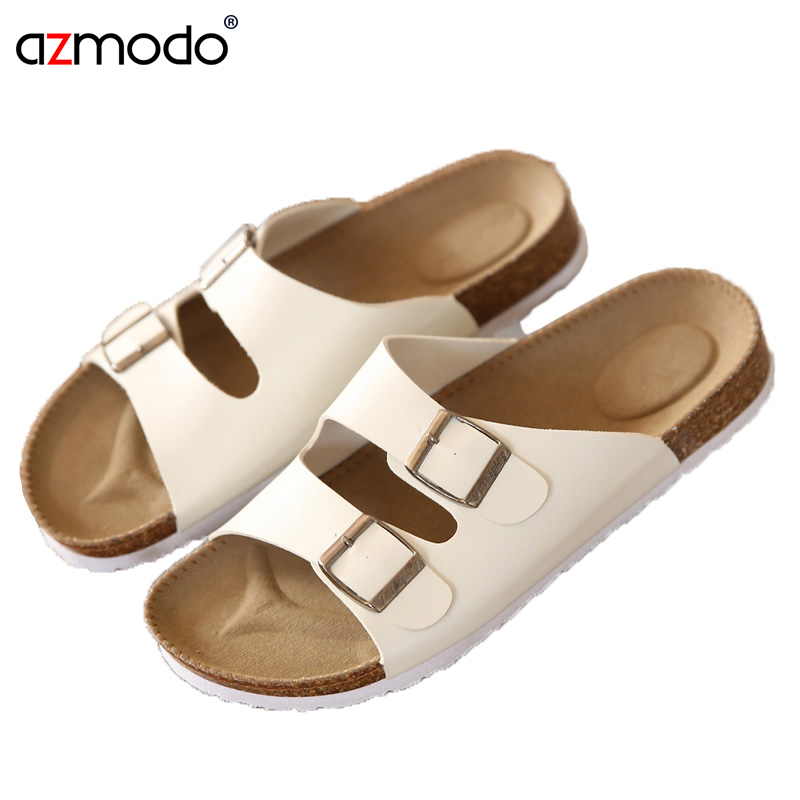 Men Shoe Sandals Slippers Flip-Flops Cork Male Beach-Flip Unisex Casual Lovers Summer