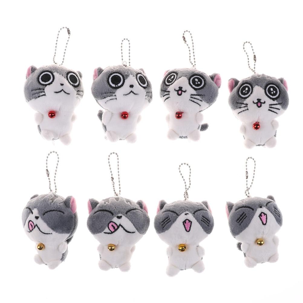 10cm Cute Kawaii Lovely Mini Smiling Face Cat Keychain Pendant Baby Children Plush Toys Kids Toys For Children
