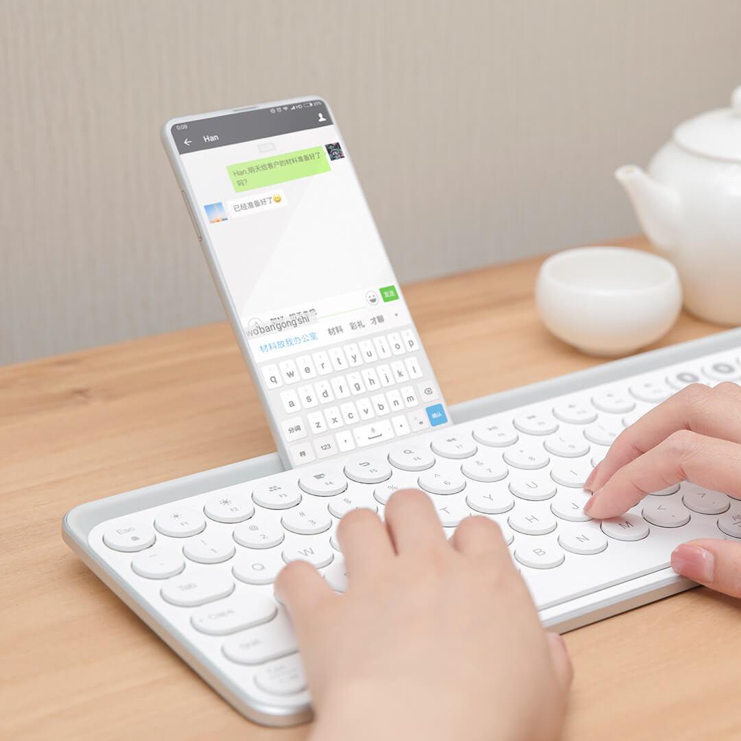 Image 4 - Xiaomi Miiiw 2.4G Wireless Keyboard 102 Keys Bluetooth Keyboard For Desktop/Laptop/Computer/Tablet/Phones/iPad/iPhone/Huawei-in Keyboards from Computer & Office