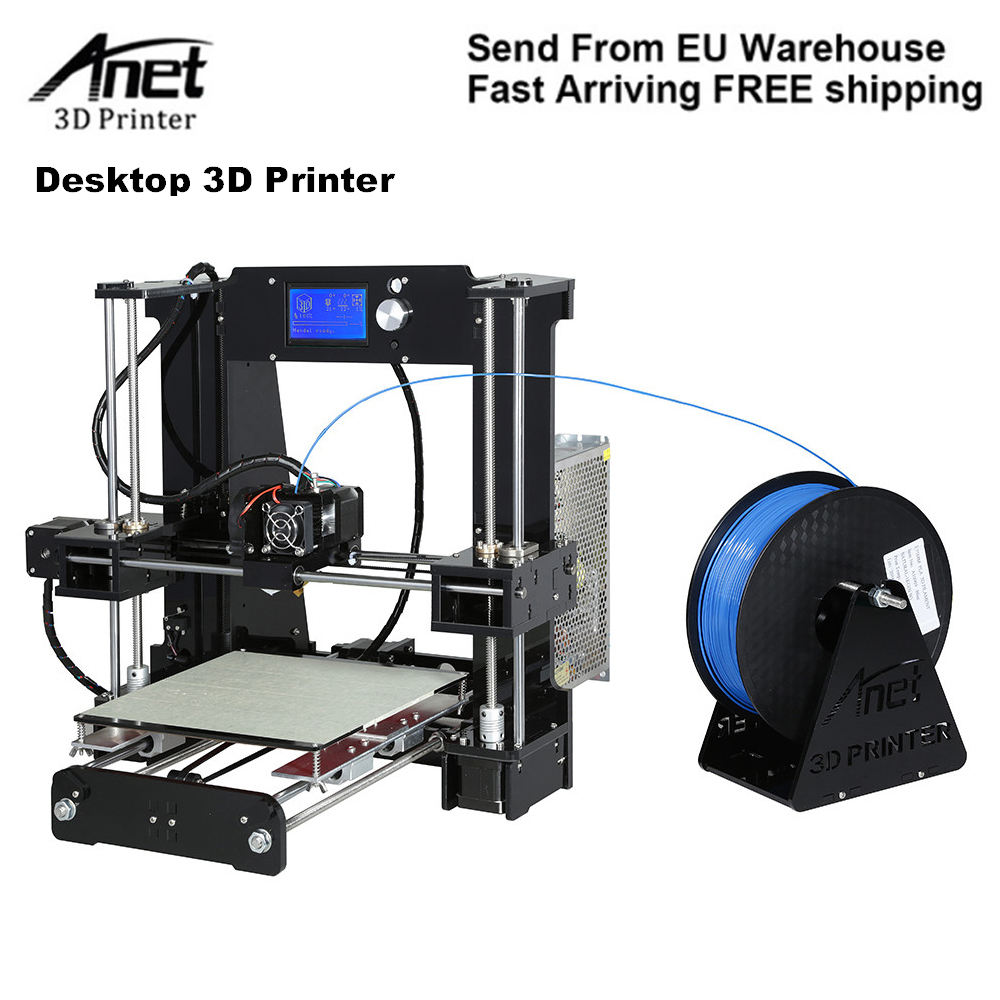Anet A6 3D Desktop Printer Kit LCD Screen DIY Display 3D Printing Machine With TF Card Off Line Printing Function PLA Plastic 3d printing machine 3d desktop printer desktop printer - title=