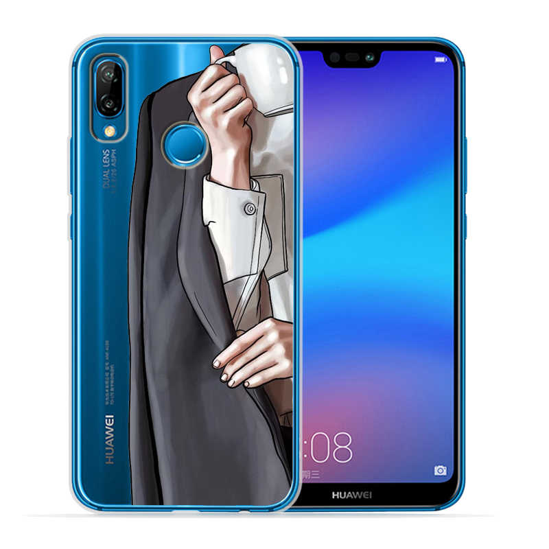 Chica de moda de hombre de mujer para cubrir Huawei P30 caso Lite-Huawei P30 Pro P20 Lite P8Lite P9Lite 2017 P inteligente Capa suave Etui