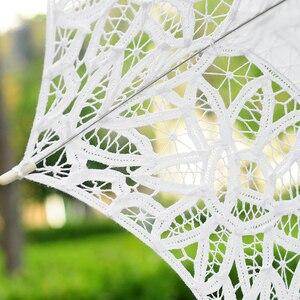 Image 4 - 2019 wiosna koronka parasol słoneczny dla panny młodej biały kości słoniowej parasol ślubny w stylu Vintage parasol ślubny akcesoria dla nowożeńców WU005