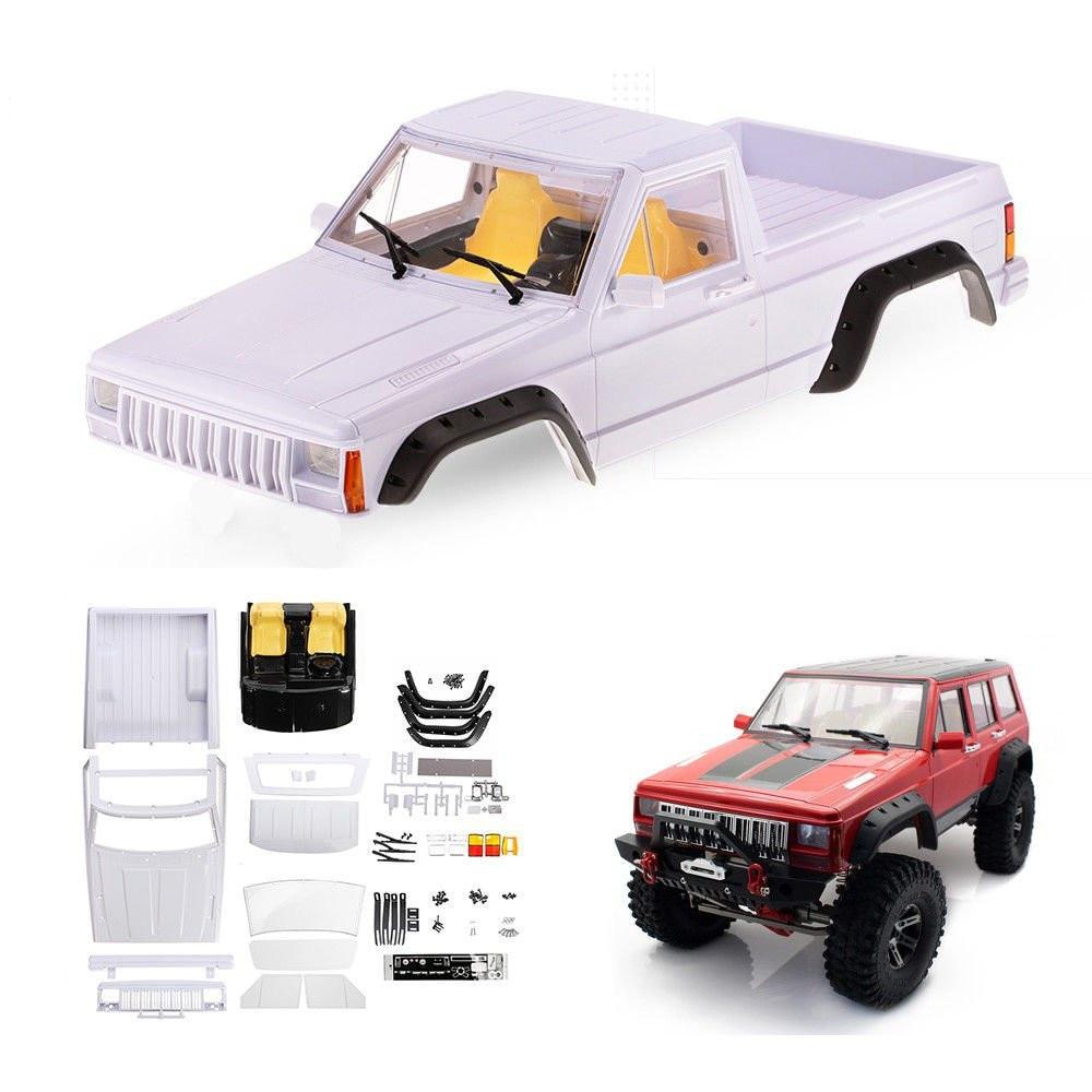 Kit de carrosserie de camionnette Cherokee en plastique dur non peint 313mm pour empattement Axial SCX10 II 90046 90047 1/10 pièces de voiture Rc