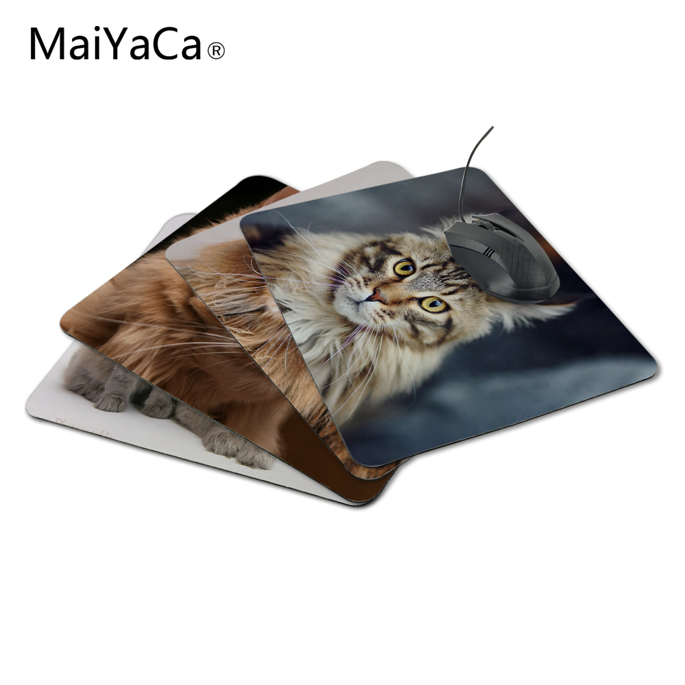 MaiYaCa Maine Coon Cat Hot Sale 18*22cm And 25*29cm Mouse Pad Mat Comfort Mice Pads