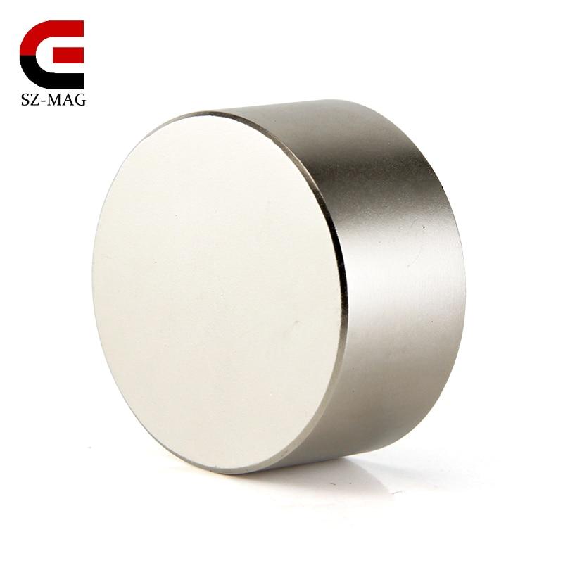 1 pcs super puissant Dia 40mm x 20mm cylindre néodyme aimant 40x20mm cylindre aimant arrière terre NdFeB aimants aimants