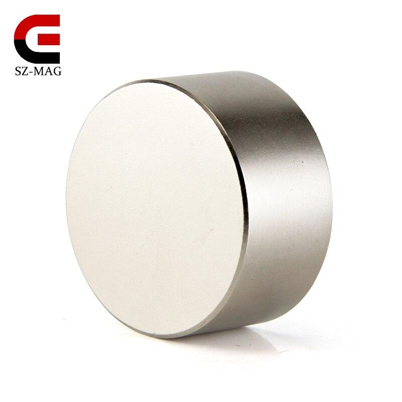 1 piezas super potente diámetro 40mm x 20mm cilindro neodimio imán 40x20mm cilindro imán trasero imanes de NdFeB tierra imanes