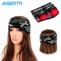 JINSERTA Wireless Sleep Headphone High Quality Stereo Bluetooth Headband Headset for Listening Music Answer Phone Also Eye Mask