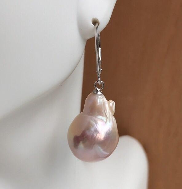 Hot sale new Style >>>>Baroque Pearl Earrings,Fireball Pearl Earrings,S925 Level Back Earrings
