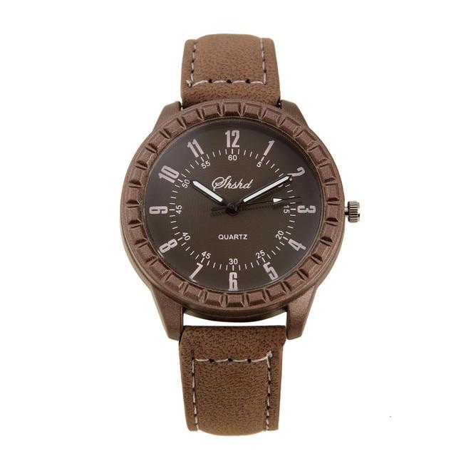 2 Pcs Hot Sales New Vintage leisure imitation wood pair watches men women lovers couple dress quartz wristwatch 5
