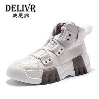 Delivr мужские кроссовки люксовый бренд 2019 белые кроссовки мужская обувь с высоким берцем Мужская обувь для бега из натуральной кожи Мужская В