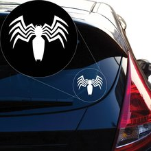 Yoonek Graphics Spiderman Venom Vinyl Decal Sticker # 866 (4 x 5.1, White)