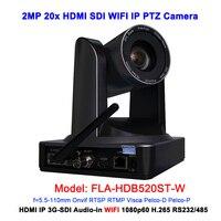 Full hd ip камера wifi ptz видео конференц 20x оптический зум черного цвета с 3G SDI HDMI портом