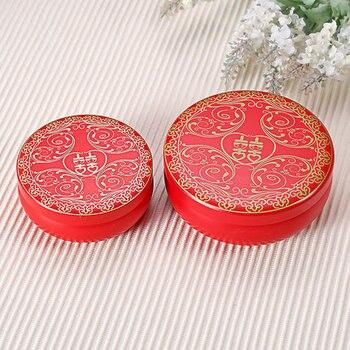 20PCS Chinese XI candy box, tin candy box, round tin box, wedding gift package free shipping