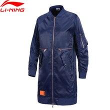 Li-Ning Женская ветровка для баскетбола BAD FIVE, свободная посадка, полиэстер, подкладка, спортивная куртка для фитнеса AFDP018 WWF918