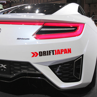 1 Pair Reflective Drift Japan JDM Style Words Sticker Auto Window Fender Decor Stickers And Decals