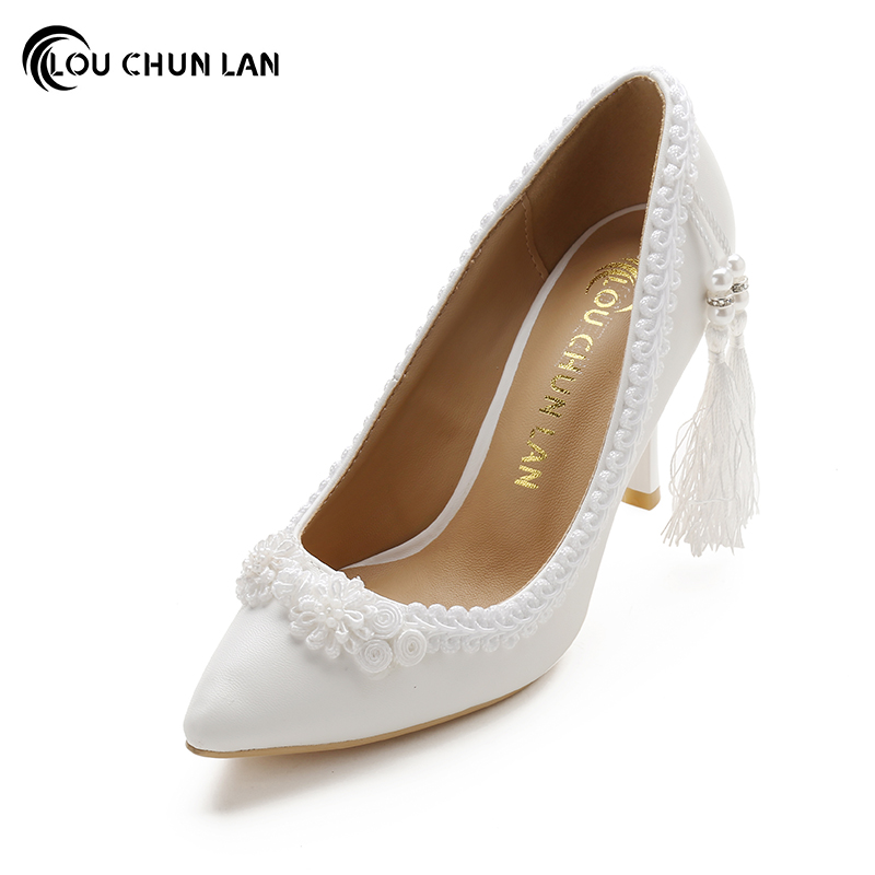 Women Pumps Shoes High Heels Wedding Shoes Elegant Rhinestone Pointed Toe Shoes Free Shipping Party shoes