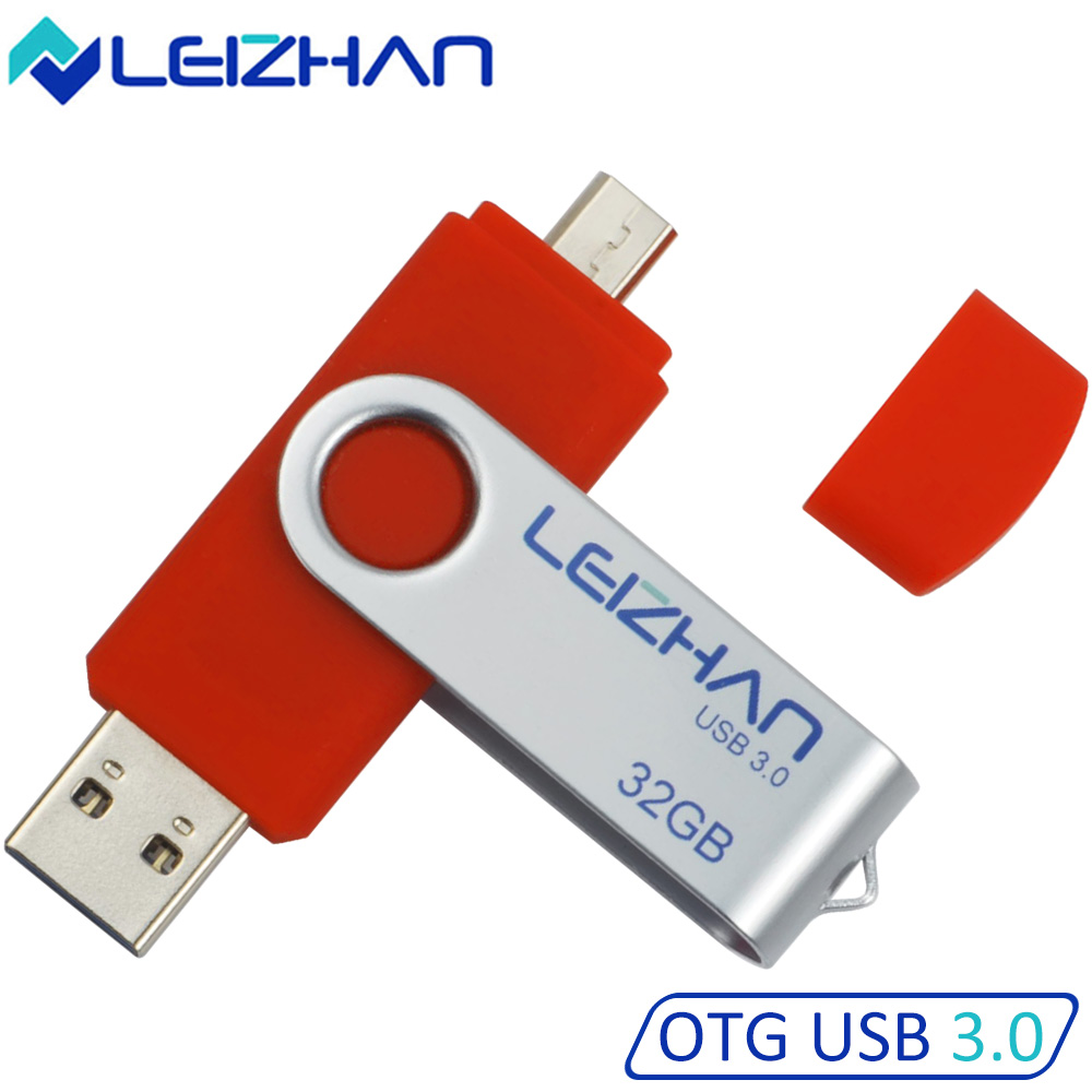 leizhan usb 3 0 flash drives 32 gb otg pen drive 16gb pendrive usb stick 8gb micro usb 64g for. Black Bedroom Furniture Sets. Home Design Ideas
