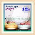 Free que envía 50 unids ronda led luz del panel de 12 w 2835smd ac90-265v 980lm lámpara de luz de techo del downlight del bulbo del proyector led iluminación