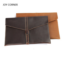 A4 Folder Big Capacity Document Leather File Folder For Papers Men Women Simple Solid Portfolio For