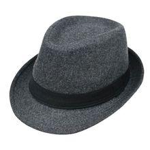 Men Women Unisex Vintage Wide Brim Fedora Hats Flat Top Curved Trim Dance Simpli
