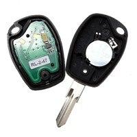 Completo Keyless Entry Fob Dominante Alejada 433 MHz 2 botones para Renault Clio Kangoo Megane Modus Logan Sandero Plumero Coche alarma