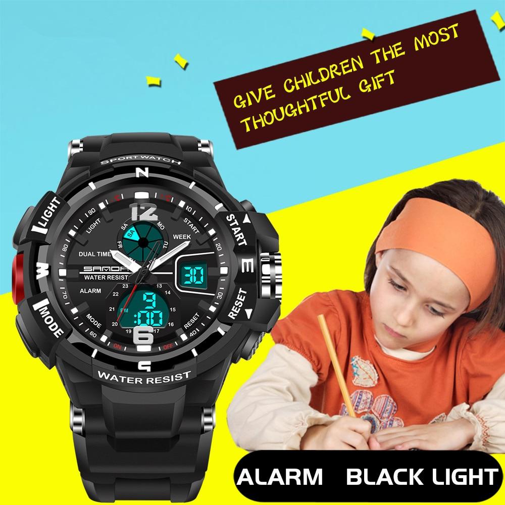 Nowa marka moda SANDA dzieci zegarek sportowy zegarek LED cyfrowy - Zegarki dziecięce - Zdjęcie 3