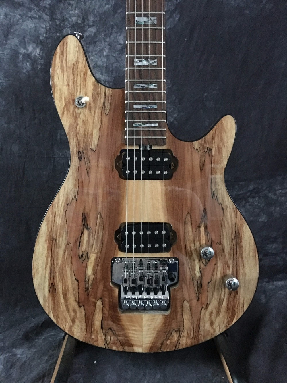 Chinese custom shop Wolfgang electric guitar natural wood with chrome Freud rose tremolo free shipping custom shop tl electric guitar classical tele 53 relics yellow milk color relic by hands high quality limited issue signature