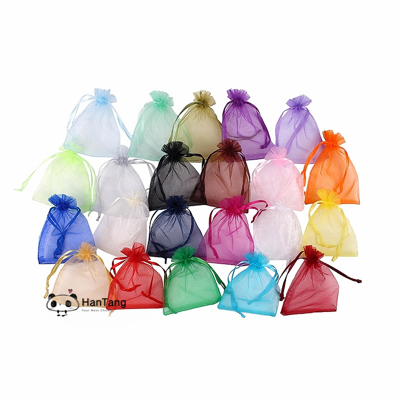 25/50pcs 7*9cm,9x12cm,10x15cm,Organza Bag Christmas Gift Bags Wrapping Supplies Jewelry Packing Display Bag&pouch Favor Bag 5z(China)