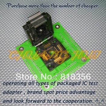 FPQ-64-0.65-04 Programmer Adapter FPQ64/QFP64 Adapter/IC SOCKET/IC Test Socket (Flip test seat)