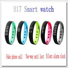 2016 NEUE B17 Smart uhr smart armband passometer nachricht und erinnerung Gefälschte telefon zwei-wege antilost doppel farbe smartwatch