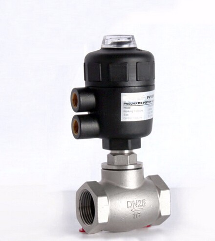 1 inch 2/2 way pneumatic globe control valve angle seat valve normally closed 80mm PA actuator globe valve 2 way nc 1 1 2 in f npt