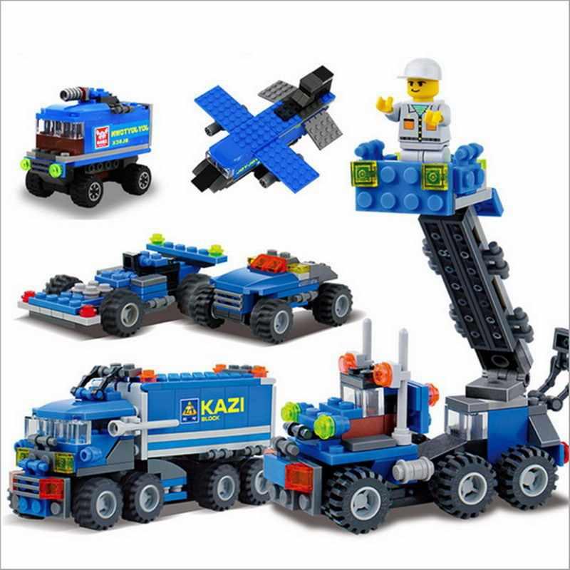 City Fire Fighting Excavator Transport Dumper Truck Legoings Model Building Blocks Enlighten Toys For Children Christmas Gift