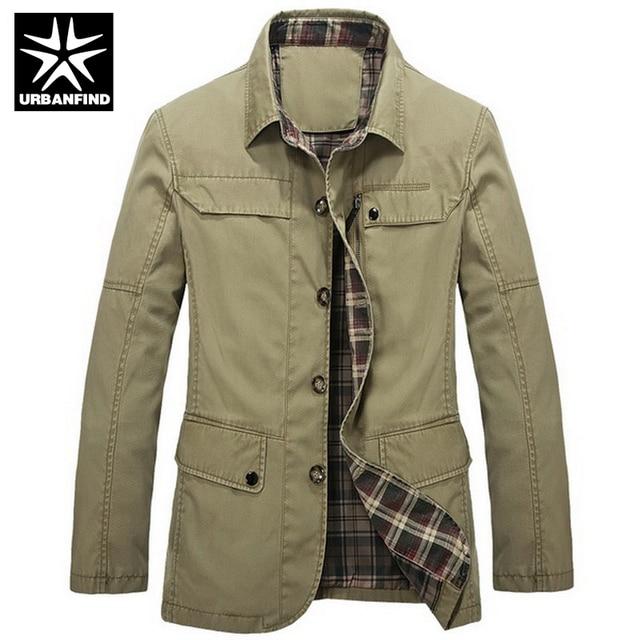 URBANFIND Autumn Spring Clothing Men Fashion Military Jacket Asian Size M-3XL Army Green / Black / Khaki Man Casual Coats