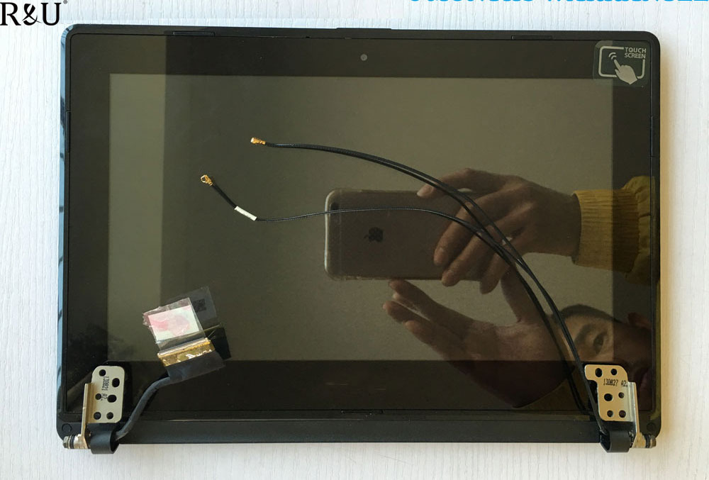 R&U test good lcd screen display with touch screen digitizer assembly Upper half set For ASUS VivoBook X102BA X102
