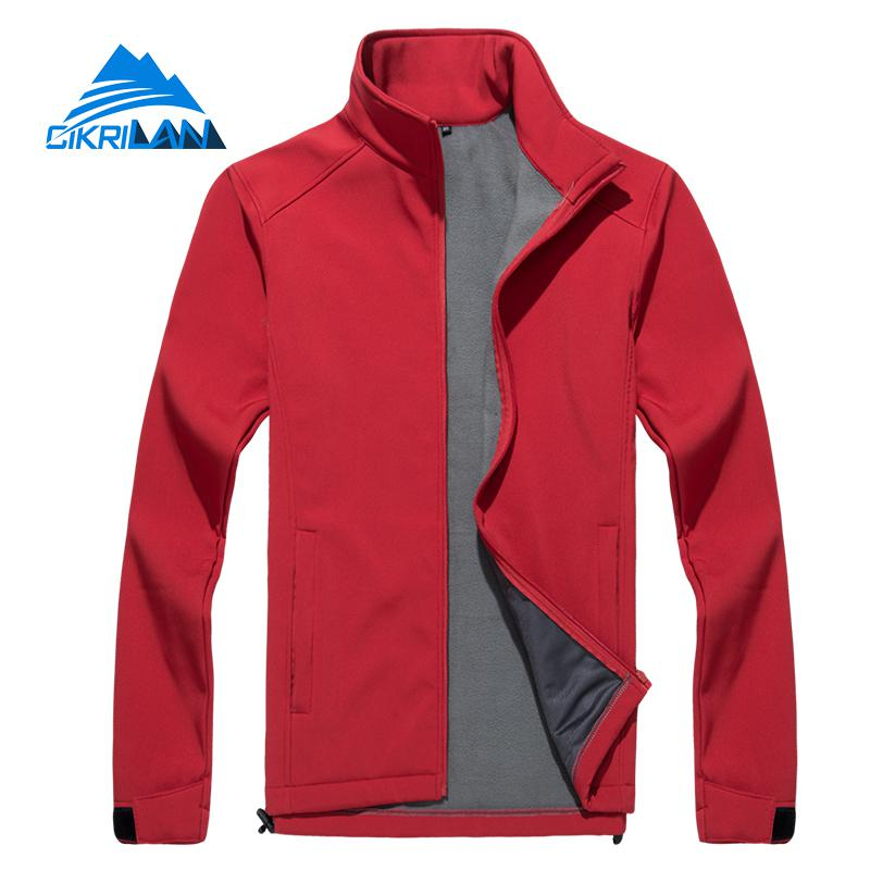 New Mens Fleece Lined Softshell Water Resistant Windproof Coat Outdoor Sport Climbing Camping Hiking Jacket Men Golf Jackets