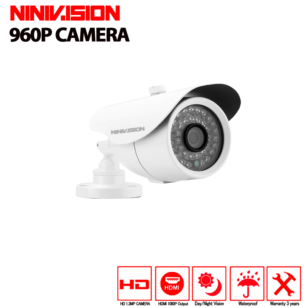 AHD CCTV Camera  960P HD Outdoor Waterpfoof Night Vision Video Surveillance Camera white and Metal material Bullet camera wistino cctv camera metal housing outdoor use waterproof bullet casing for ip camera hot sale white color cover case