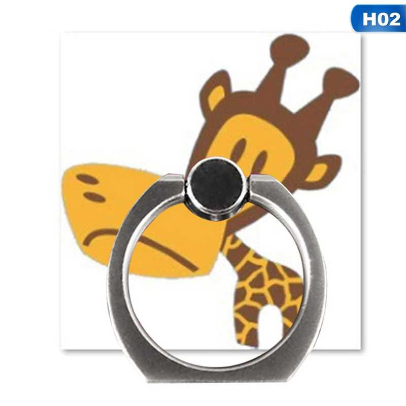 Finger Ring Holder Cartoon Animal Mobile Phone Bracket Cute Acrylic DIY Decoration Cell Phone Stands Holder