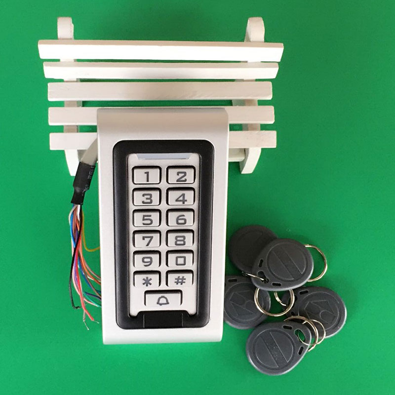Free Shipping New Metal Keypad Rfid Access Control ID/EM Password IP68 Waterproof Keypad Access Control/Wiegand Reader f3 finger pin free shipping fingerprint access control reader with keypad waterproof structure design ip65 waterproof